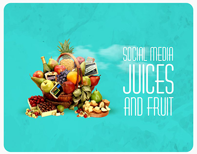 Social media juices and fruits