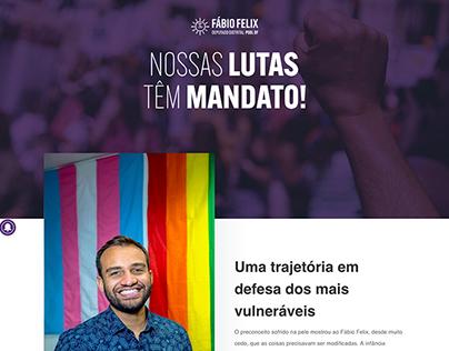 Site: Fábio Felix, Deputado Distrital (PSOL/DF)
