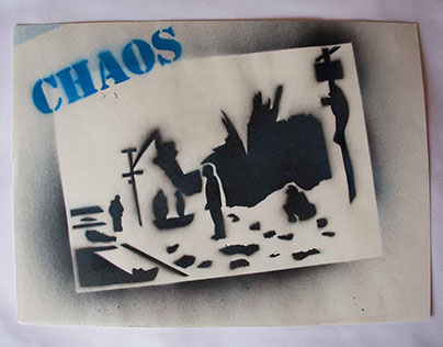 'CHAOS' II - Stencil and graffiti