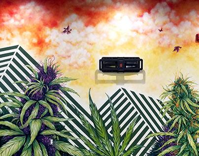 Botanical Co Lansing Mural