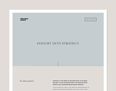 Website for Pentagon Insight