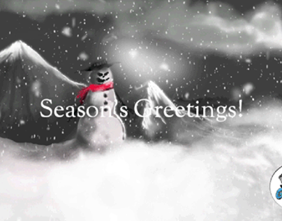Season's Greetings from the Mountain Snowman