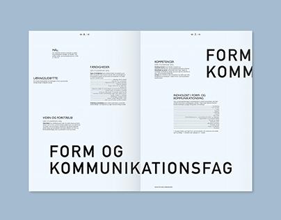 student curriculum - editorial design