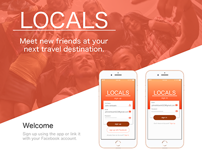 Locals: A Meet-Up App for solo travelers/groups