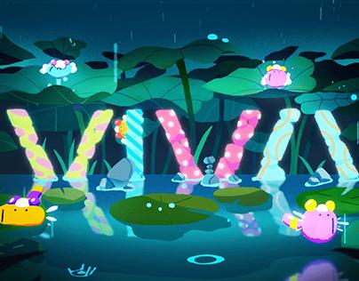 GOGORO VIVA - LOGO ANIMATION - The mystic pond