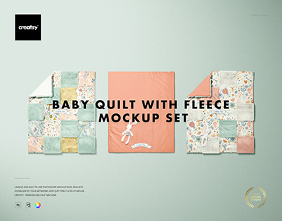 Baby Quilt with Fleece Mockup Set