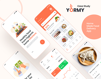 Yormy Food Delivery App UX/UI Design Case Study
