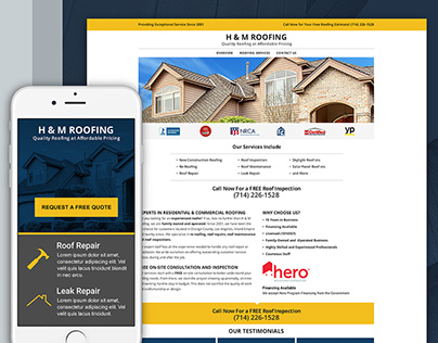 YP, Landing Page Template Designs