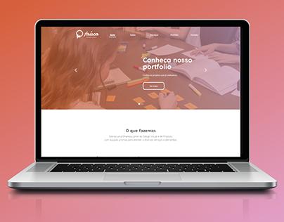Faísca Design Júnior | Layout de site