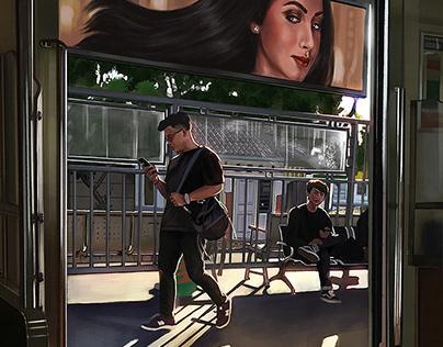 Commuting - Digital Painting