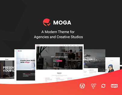 Moga - Creative Agency & Business WordPress Theme