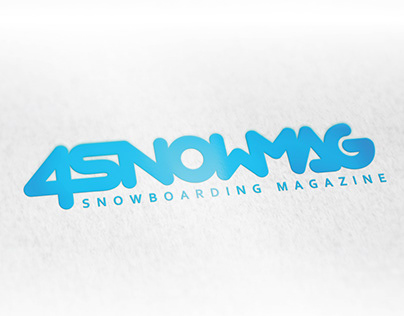 4SNOWMAG snowboarding magazine. Logo.