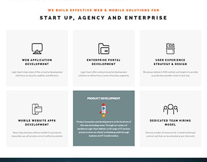 Corporate Website Design (Logic Heart)