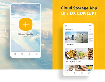 Cloud Storage App UI / UX CONCEPT