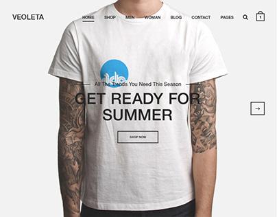 Veoleta - Minimal shop PSD