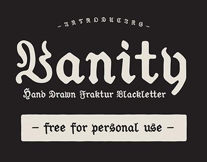 VANITY - FREE HAND DRAWN BLACKLETTER FONT