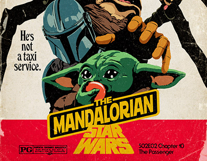 The Mandalorian Season 2 | Retro Star Wars Posters