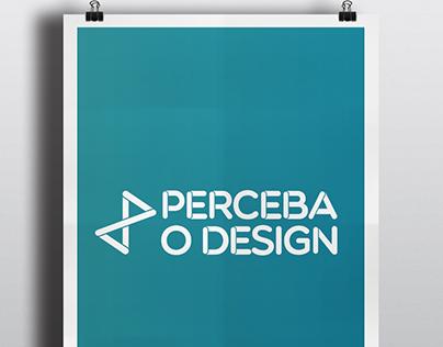 Cartazes do movimento Perceba o Design