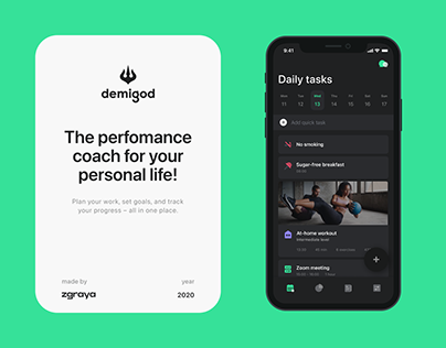 Demigod — Coach for your personal life!