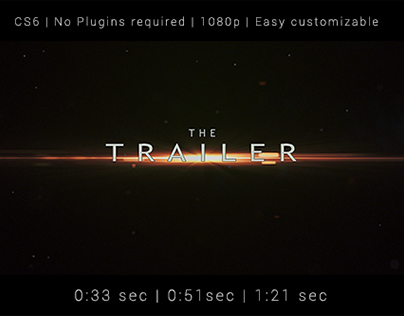 Trailer video template