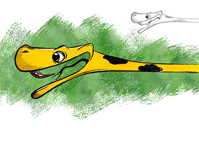 Character Design : Yellow Tree Python