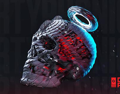 3D Skull - Gosmow poster 356