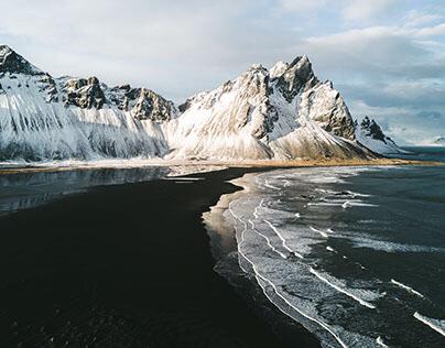 Droning Stokksnes, Iceland 2017