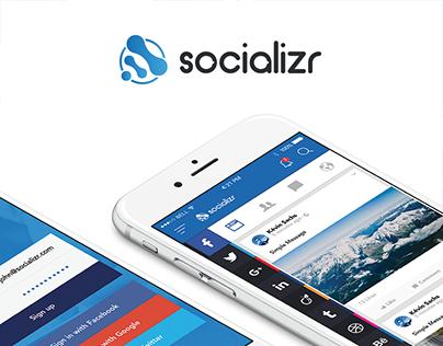 Socializr - Brand Identity & UI