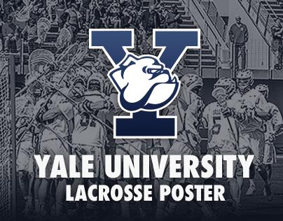 2016 Yale Men's Lacrosse Poster