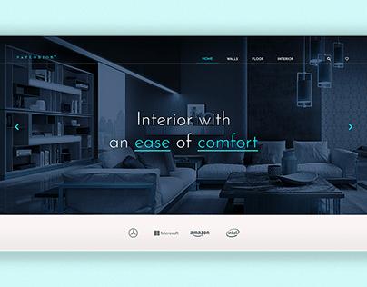Interior Design Landing Page | Interior UI Design