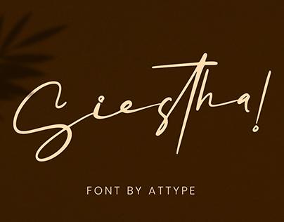 Siestha | Signature Font