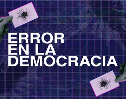 Error en la Democracia