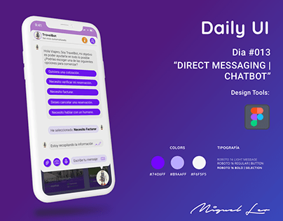 Daily UI   Direct Messaging