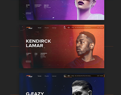 Soundcloud redesign/ Soundpulse music web site design