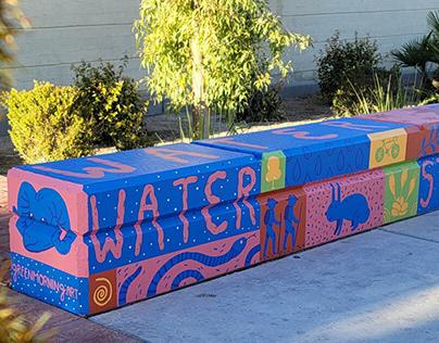 City of Henderson Water Street Art Bench