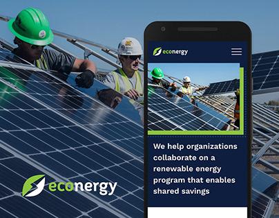 Econergy solar company Wordpress site
