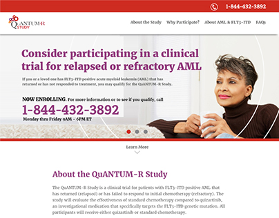 Quantum-R Healthcare Study Website Design