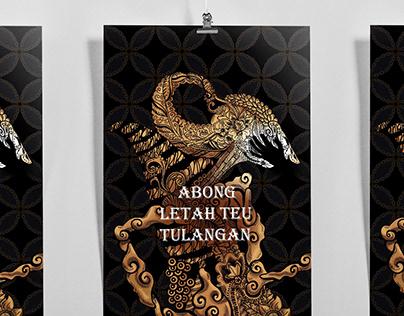 """Poster """"Abong Letah Teu Tulangan"""""""