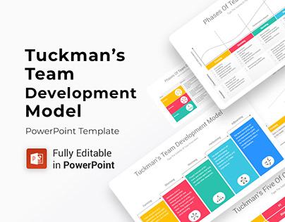 Tuckman's Team Development Model PowerPoint Diagrams