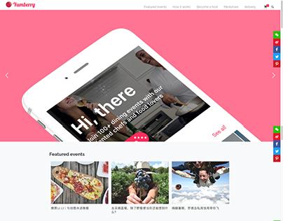 Yumberry app website design