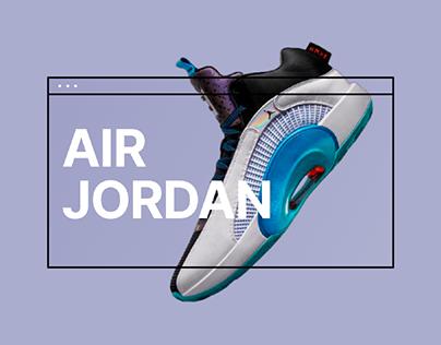 Air Jordan web site redesign
