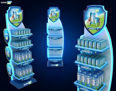Olpers Pro Cal Milk POS Displays