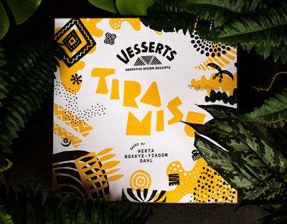 Vesserts - Identity & packaging for vegan desserts