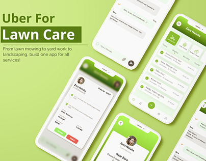 Uber for lawn Care App UI