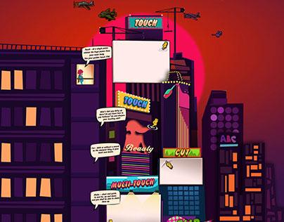 "Web Design for Mobile Game ""Badass"""