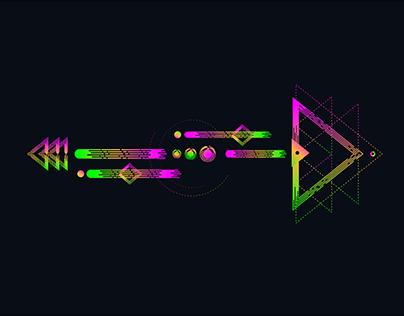 Neon Geometric Art