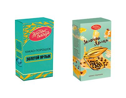 Какао-порошок «Золотойярлык» ребрендинг упаковки