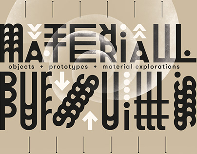 """""""Material Pursuits"""" Exhibition Poster"""