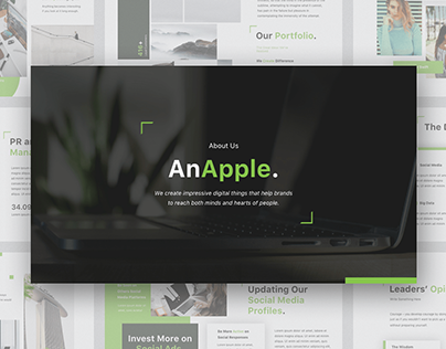 AnApple - Free Powerpoint & Keynote Template