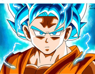 [Dragon ball super] super saiyan  blue Goku
